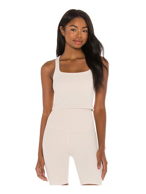 Beyond Yoga x revolve heather rib square neck cropped tank