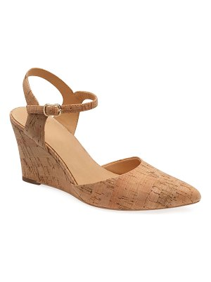 Bill Blass Perdi Cork Wedge Sandals