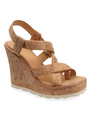 Bill Blass Rae Cork Wedge Sandals
