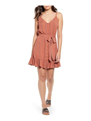 Billabong air dancer sleeveless ruffle hem minidress