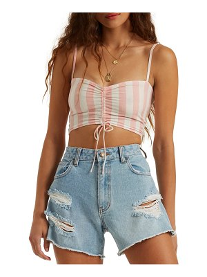 Billabong beaud up ruched crop tank