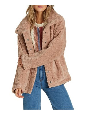 Billabong cozy days faux fur jacket