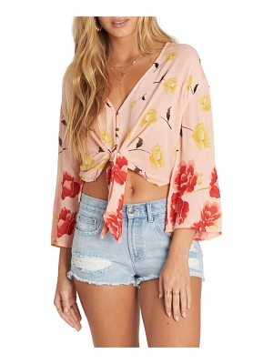 Billabong desert sunrise tie waist crop top