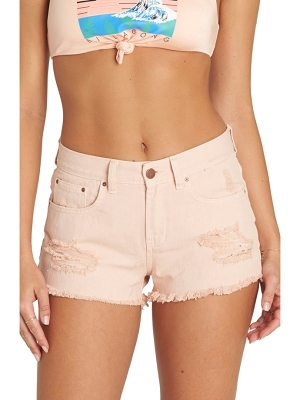 BILLABONG Drift Away Distressed Denim Cutoff Shorts