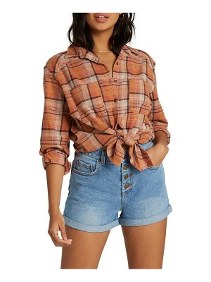 Billabong east light plaid shirt
