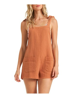 Billabong girl on the run short overalls