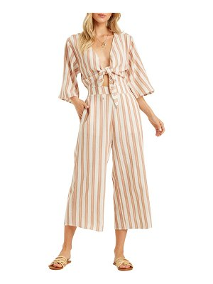 Billabong link up tie front jumpsuit
