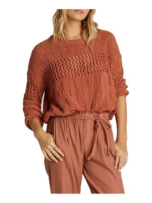 Billabong on the horizon chenille sweater