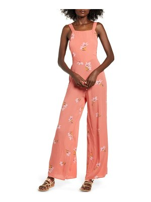Billabong still here floral wide leg jumpsuit