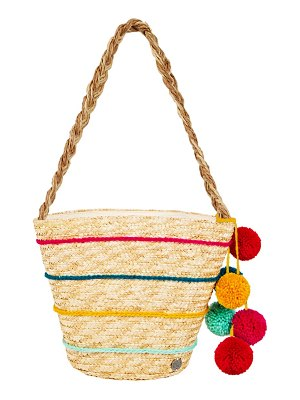 Billabong sun seeker stripe straw tote