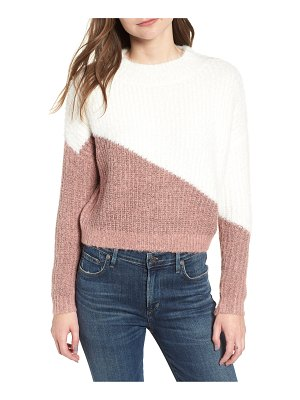 BISHOP AND YOUNG diagonal colorblock sweater
