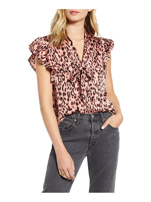 Bishop + Young leo front tie blouse