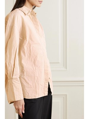 BITE Studios net sustain oversized crinkled-organic cotton shirt