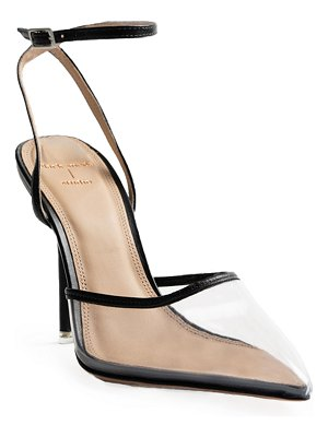 BLACK SUEDE STUDIO Mila Transparent Ankle-Strap Pumps