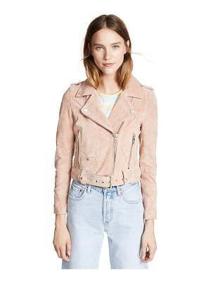 Blank Denim candy crush suede moto jacket