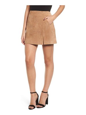 Blank NYC a-line suede skirt