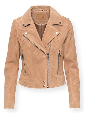 Blank NYC Act Natural Suede Moto Jacket