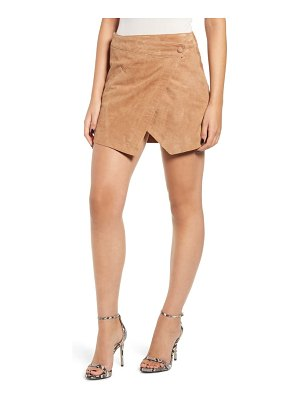Blank NYC asymmetrical suede miniskirt
