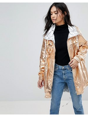 BLANK NYC Blank Nyc Reversible Metallic Rain Jacket