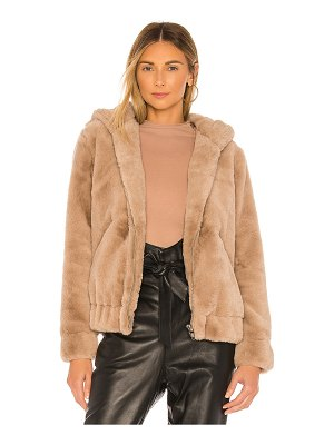 Blank NYC faux fur bomber