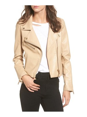 Blank NYC faux leather moto jacket