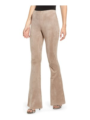 Blank NYC faux suede flare pull-on pants