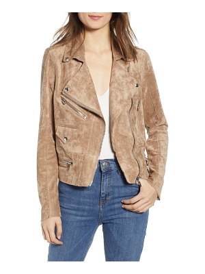 Blank NYC faux suede moto jacket