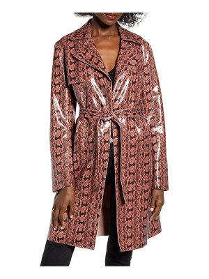 Blank NYC sneak attack snakeskin trench coat