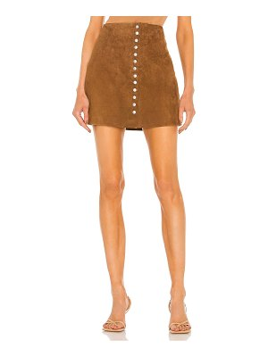 Blank NYC suede snap skirt