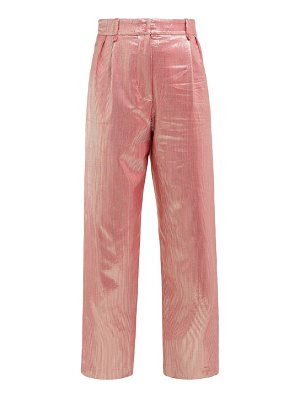 BLAZÉ MILANO diva metallic high rise silk blend trousers