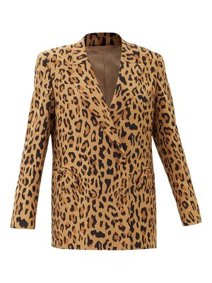 BLAZÉ MILANO simba everynight double-breasted silk blazer