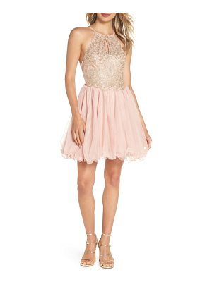 Blondie Nites embellished fit & flare dress