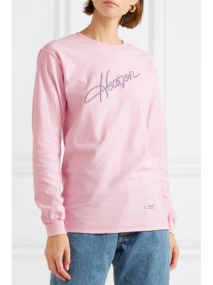 BLOUSE heaven embroidered cotton-jersey top