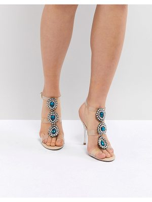 BLUE BY BETSEY JOHNSON Blue By Betsy Johnson Sylvi Clear Embellished Heeled Wedding Sandals
