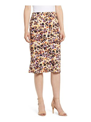 Bobeau courtney bias cut skirt