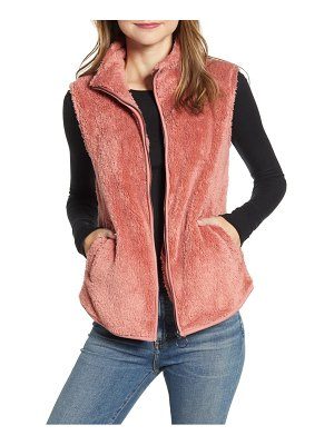 Bobeau cozy fleece zip vest