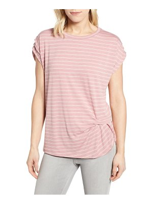 Bobeau pleated sleeve tee