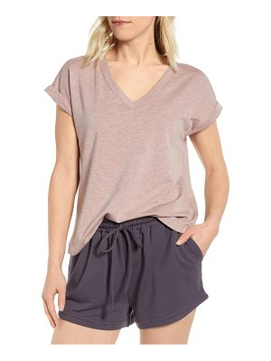 Bobeau v-neck french terry top