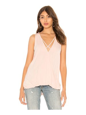 Bobi Bamboo Jersey Sleeveless Surplice Top