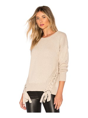 Bobi Cashmere Lace Up Sweater