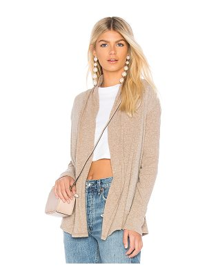 BOBI Heather Rib Mix Cardigan