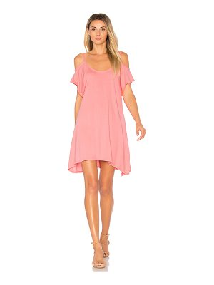 BOBI Light Weight Jersey Cold Shoulder Dress