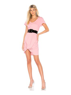 BOBI Lightweight Jersey Knotted Dress