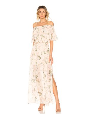 Bobi Off The Shoulder Maxi Dress