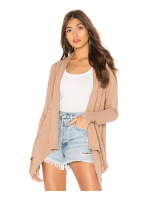 Bobi Slubbed Jersey Draped Cardigan