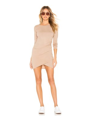 Bobi Supreme Jersey Ruched Bodycon Dress