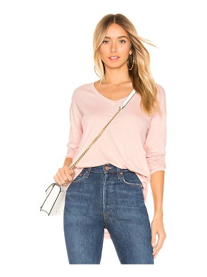 Bobi v neck long sleeve tee