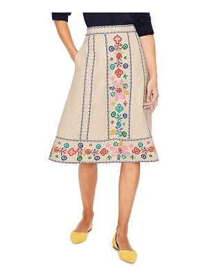 BODEN brooke embroidered skirt