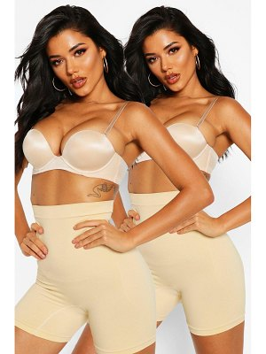 Boohoo 2 Pack High Waist Control Short