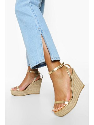 Boohoo 2 Part Espadrille Wedge